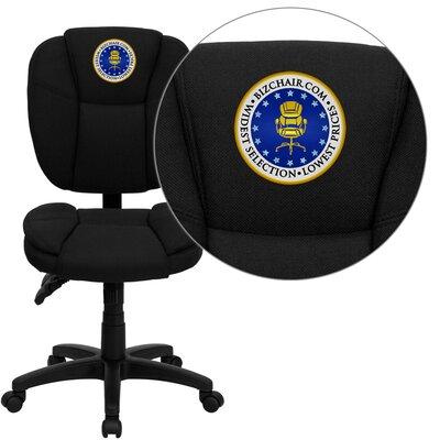 Flash Furniture Personalized Mid-Back Black Multi-Functional Ergonomic Task Chair