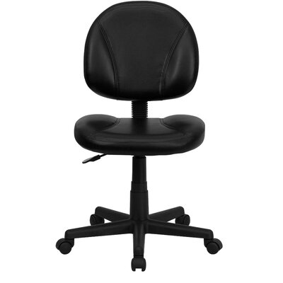Flash Furniture Mid Back Leather Task Chair II (Set of 2)