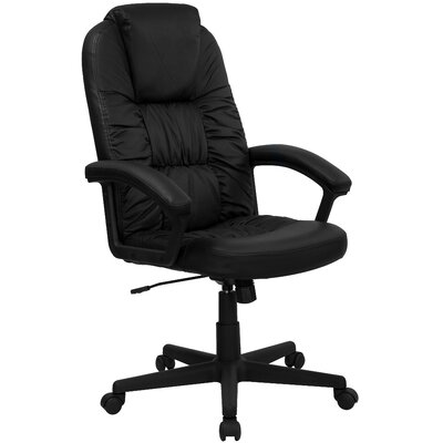 Flash Furniture High-Back Leather Swivel ..