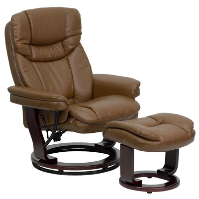 Flash Furniture Contemporary Leather Recliner and Ottoman III