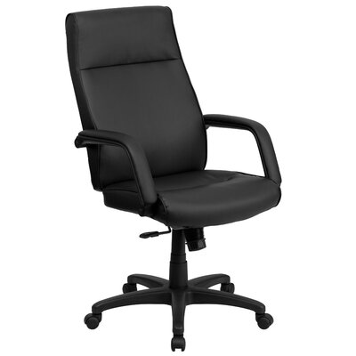Flash Furniture High-Back Leather Executive Chair with Memory Foam Padding