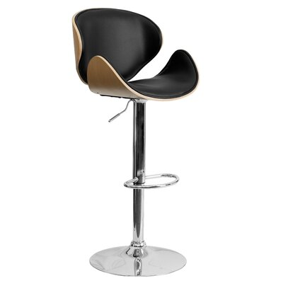 Flash Furniture Curved Adjustable Height Swivel ..