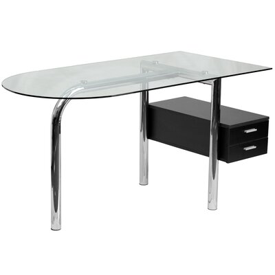 Flash Furniture Writing Desk with 2 Drawer P..