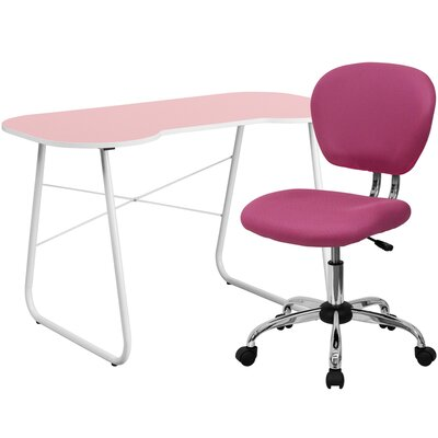 Flash Furniture Writing Desk with Task Chair