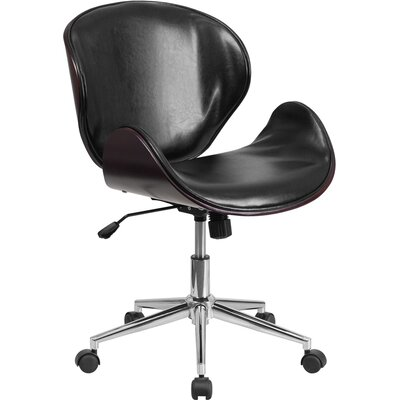 Flash Furniture Mid-Back Leather Conference Chair with Swivel