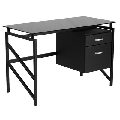Flash Furniture Computer Desk with 2-Drawer Pedestal