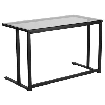 Flash Furniture Writing Desk with Pedestal Frame