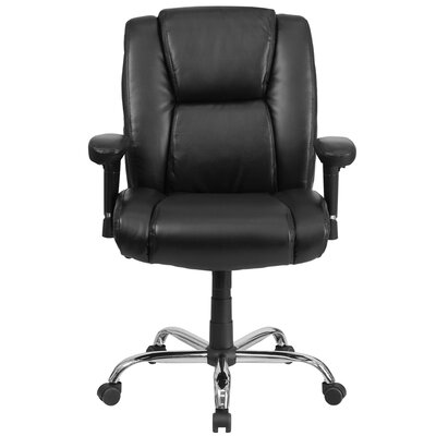 Flash Furniture Hercules Series Mid-Back Leather Conference Chair with Arms