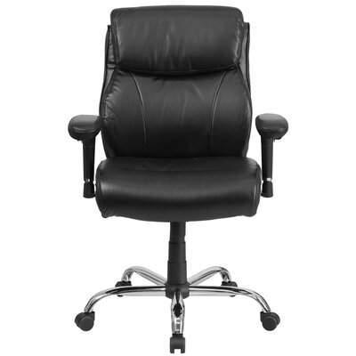Flash Furniture Hercules Series 4Mid-Back Leather Task Chair with Arms
