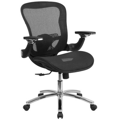 Flash Furniture Mid-Back Mesh Chair with Synchro-Tilt And Height Adjustable Flip-Up Arms