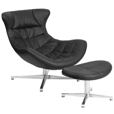 Flash Furniture Cocoon Lounge Chair and Ottoman