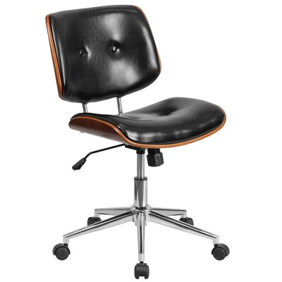 Flash Furniture Mid-Back Leather Desk Chair