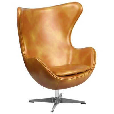 Flash Furniture Gold Leather Egg Chair