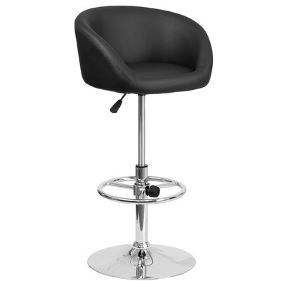 Flash Furniture Adjustable Height Swivel Bar Stool