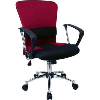 Flash Furniture Contemporary Two Tone Adjustable Mid Back Office Chair