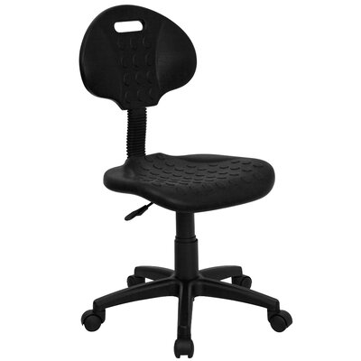 Flash Furniture Mid-Back Tuff Butt Soft Polypropylene Utility Task Chair
