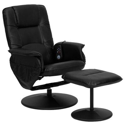 Flash Furniture Leather Heated Reclining Massage Chair & Ottoman