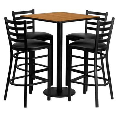 Flash Furniture 5 Piece Pub Table Set