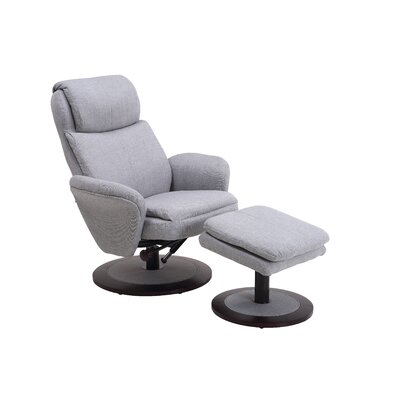 Comfort Chair Cush Swivel Recliner and Ottoman
