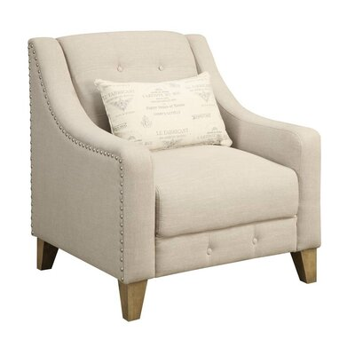 One Allium Way Touchette Beige Arm Chair