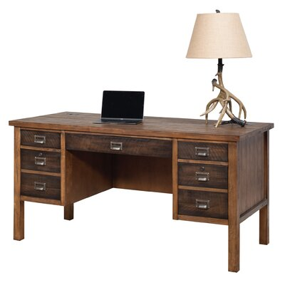 Laurel Foundry Modern Farmhouse Bissell Half Pedestal Desk