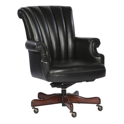 Hekman Ribbed Leather Executive Chair