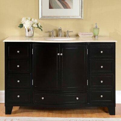 Silkroad exclusive 55 single sink cabinet bathroom vanity set reviews wayfair for Silkroad bathroom vanity reviews