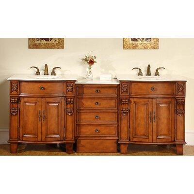 Silkroad exclusive savannah 84 double bathroom vanity set reviews wayfair for Silkroad bathroom vanity reviews