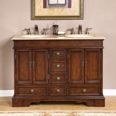 Silkroad exclusive bradford 48 double bathroom vanity set reviews wayfair for Silkroad bathroom vanity reviews