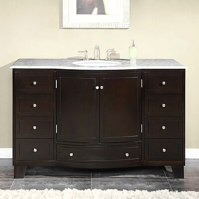 Silkroad Exclusive Naomi 55 Single Bathroom Vanity Set Reviews Wayfair