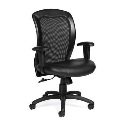 Offices To Go Luxhide Mesh Ergonomic Chair with Arms
