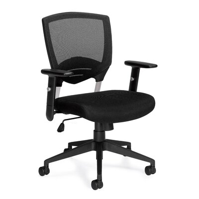 Offices To Go Mesh Conference Chair With Arms