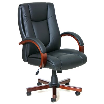 Offices To Go Luxhide High-Back Leather Executive Chair