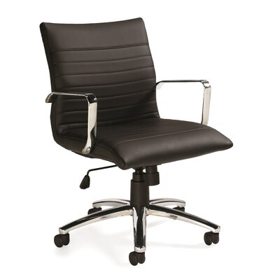 Offices To Go Mid-Back Leather Desk Chair Image