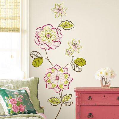 bathrooms for kids wallpops wallpops kits sheets des fleurs wall decal 11988