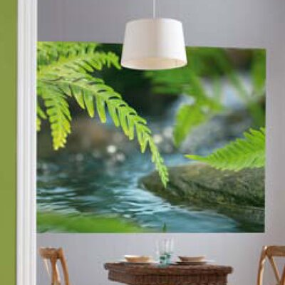 Brewster home fashions komar along the river wall mural for Brewster wall mural