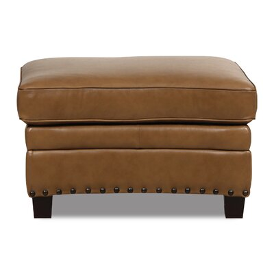 Darby Home Co Hubbard Leather Ottoman