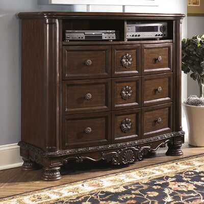Wildon Home ® North Shore 6 Drawer Media Chest