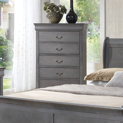 Wildon Home ® Louis Phillip 5 Drawer Chest