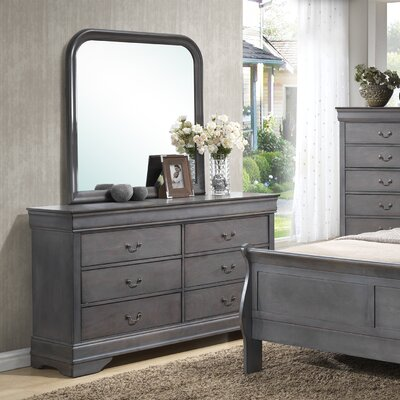 Wildon Home ® Louis Phillip 6 Drawer Dresser wi..