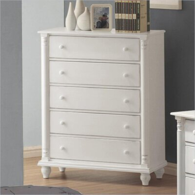 Charlton Home Bradstane 5 Drawer Lingerie Chest