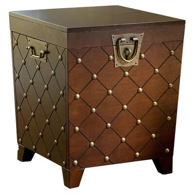 House of Hampton Evienne Nailhead Trunk End Table Image