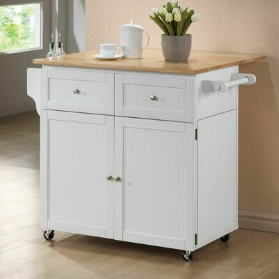 Wildon Home ® Carol Kitchen Island with Butcher..