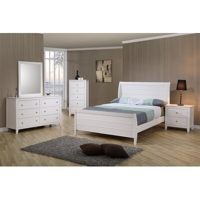 Beachcrest Home Clarendon Twin Sleigh Bed