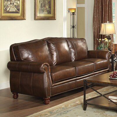 Rosalind Wheeler Walborn Leather Sofa