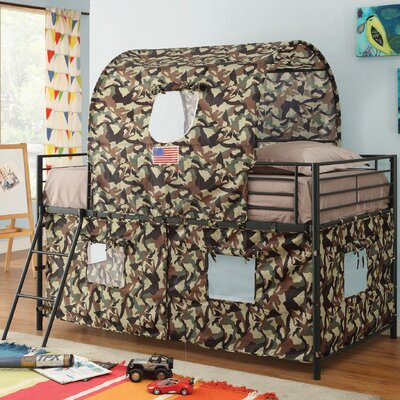 Wildon Home ® Camouflage Tent Twin Bunk Bed