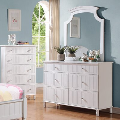 Wildon Home ® 6 Drawer Dresser with Mirror