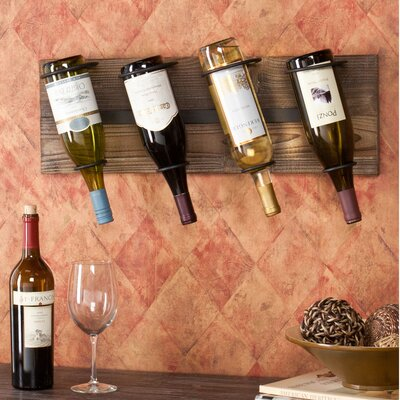 Wildon Home ® Wicklow 4 Bottle Wall Mounted Wine Rack