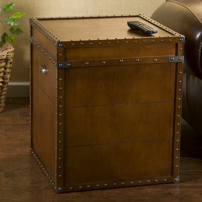 Wildon Home ® Gray Trunk End Table