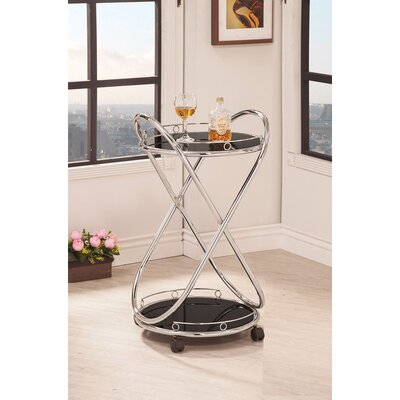 Wildon Home ® Black Serving Cart